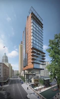 Rendering of Canopy by Hilton San Antonio River Walk & JV to Break Ground on Canopy in San Antonio | Hotel Business