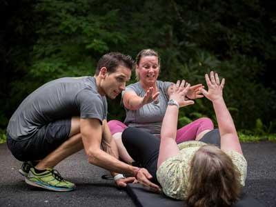 A workout at Skyterra Wellness