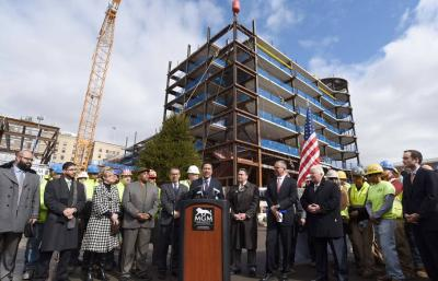 Topping off ceremony at MGM Springfield