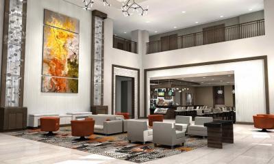 Lobby of Delta by Marriott Chicago North Shore