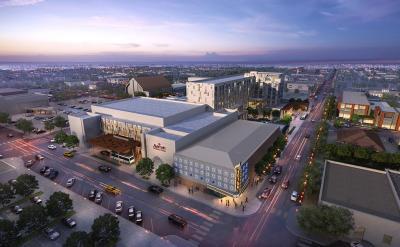 Rendering of planned Marriott Hotel in Odessa