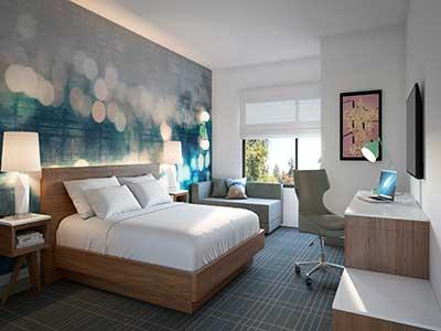 Guestrooms at the Cambria LAX in Los Angeles