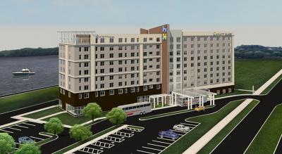 A rendering of Hyatt Place & Hyatt House Quad Cities