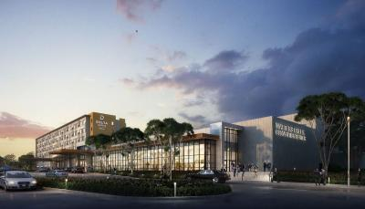 Rendering of new Delta by Marriott Hotel and Watters Creek Convention Center