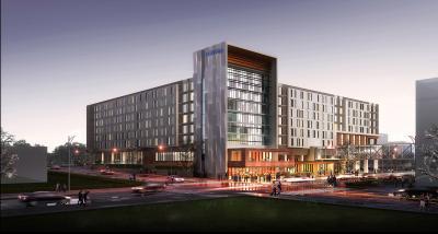 Rendering of Hilton Des Moines Downtown