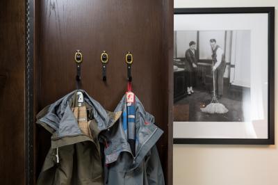 Freeman rain jackets at Hotel Theodore