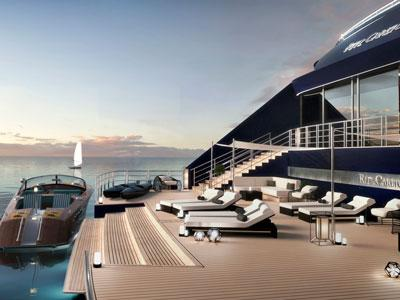 Rendering of the first yacht in the Ritz-Carlton Yacht Collection