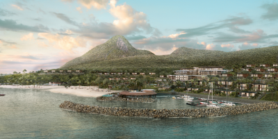 Rendering of Fairmont Saint Lucia at Sunset Bay