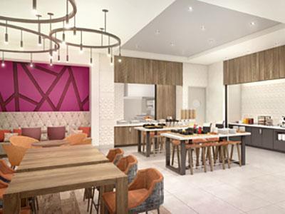 Rendering of new Hilton Garden Inn prototype