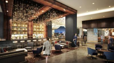 Rendering of restaurant at the Renaissance Dallas at Plano Legacy West Hotel
