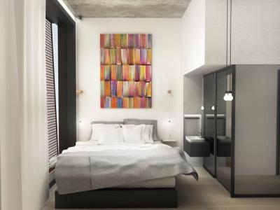 Rendering of a guestroom at Baltic Huis
