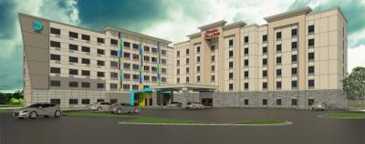 Rendering of Hampton Inn & Suites/Tru by Hilton Charlotte Airport Lakepointe