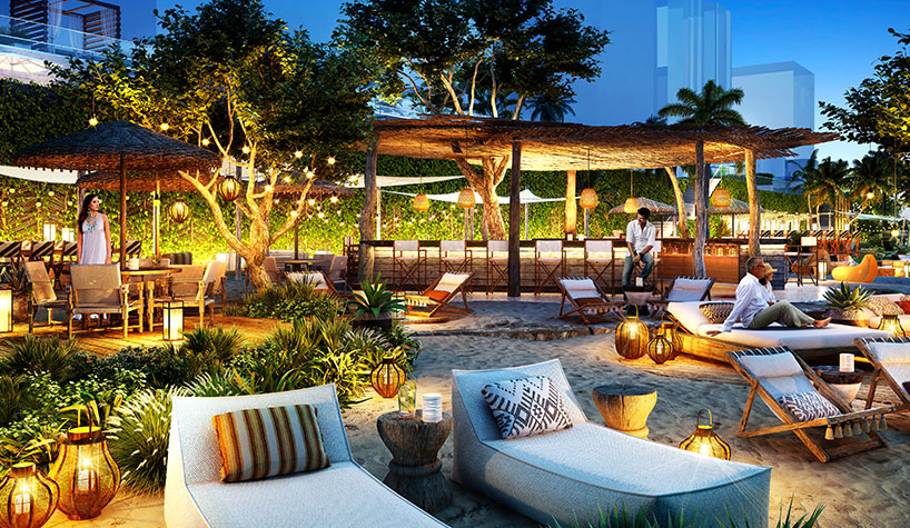 Rendering Of The Members Only Area At 1 Hotel South Beach