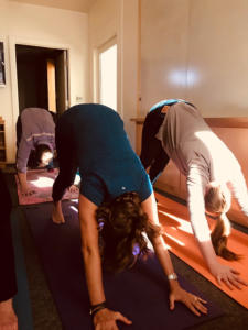 Yoga is offered regularly at Rowland + Broughton.