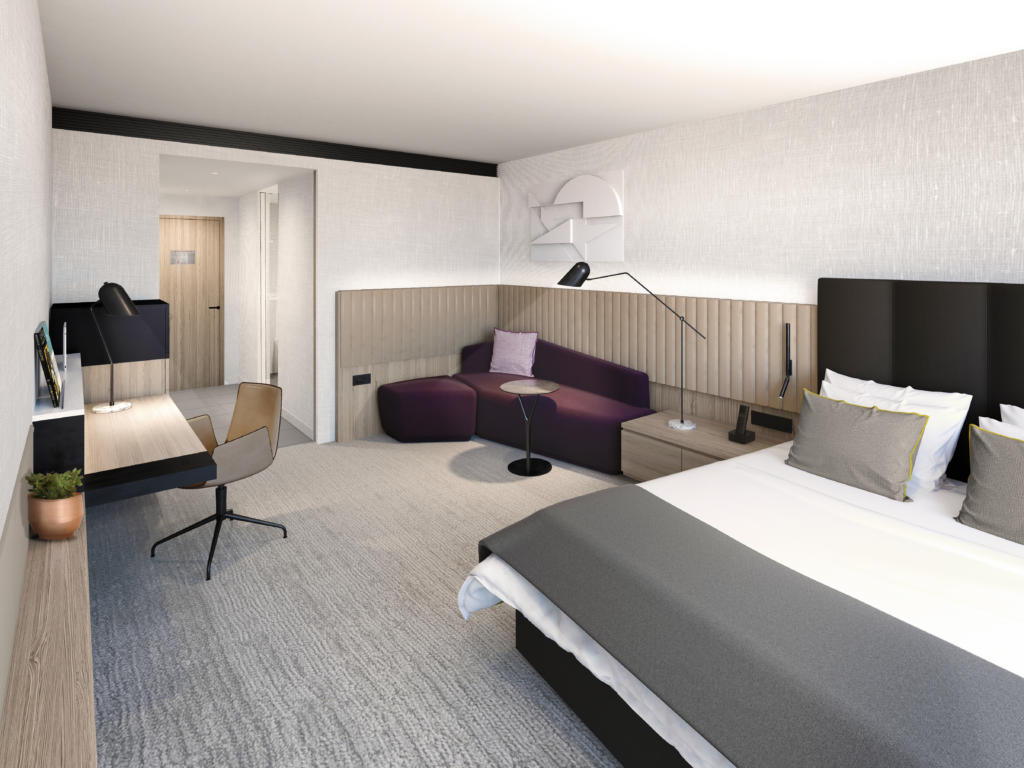 Example of a WorkLife Room planned for Crowne Plaza Hotels & Resorts