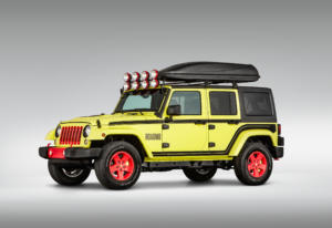 The base for Super 8's ROADM8 is built from a 2017 Jeep Wrangler.