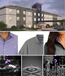 A collage illustrates the inspiration and color palette for the new Sleep Inn uniforms.