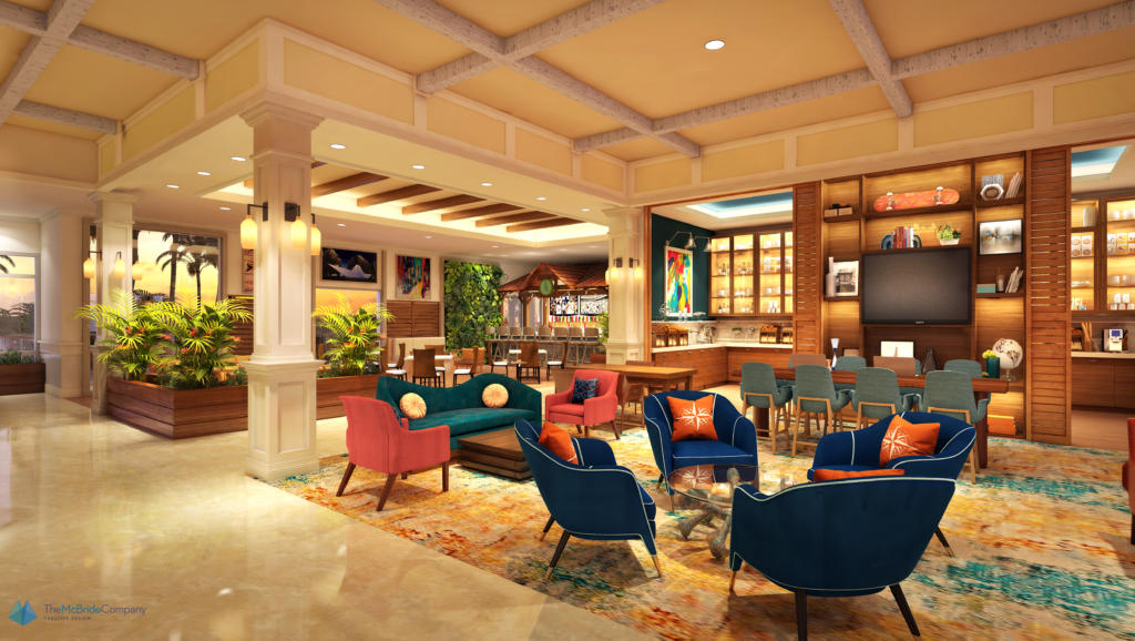 Rendering of breakfast bar for Compass by Margaritaville Hotels and Resorts