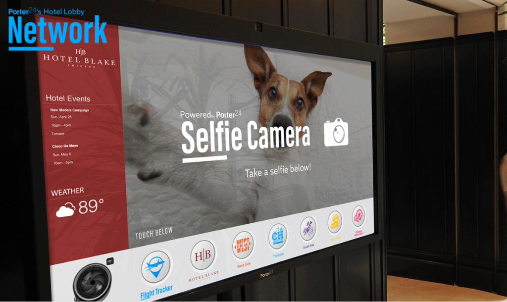 Porter24's platform offers a 'selfie button,' enabling guests to take photos to upload to social media.