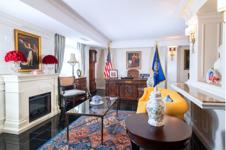 The Oval suite at Hamilton Hotel Washington, D.C.